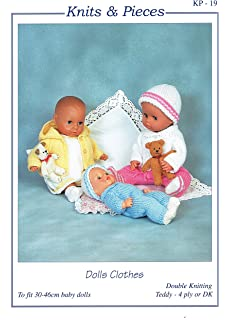 95a9e77ee King Cole Dolls Clothes Knitting Pattern 4000: Amazon.co.uk: Kitchen ...
