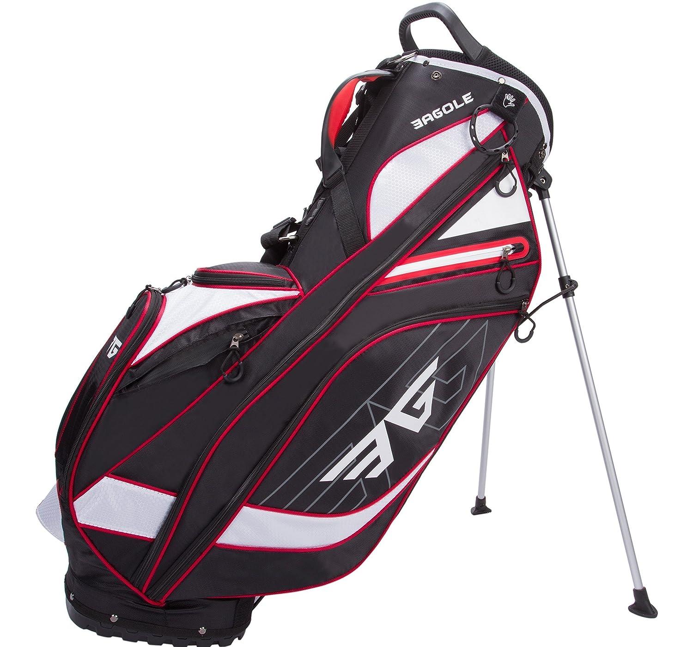 eagoleスーパーライト4.3 LBS、ゴルフスタンドバッグ8ポケット( 1つCoolerポーチ)  ブラック B077GZGMCY