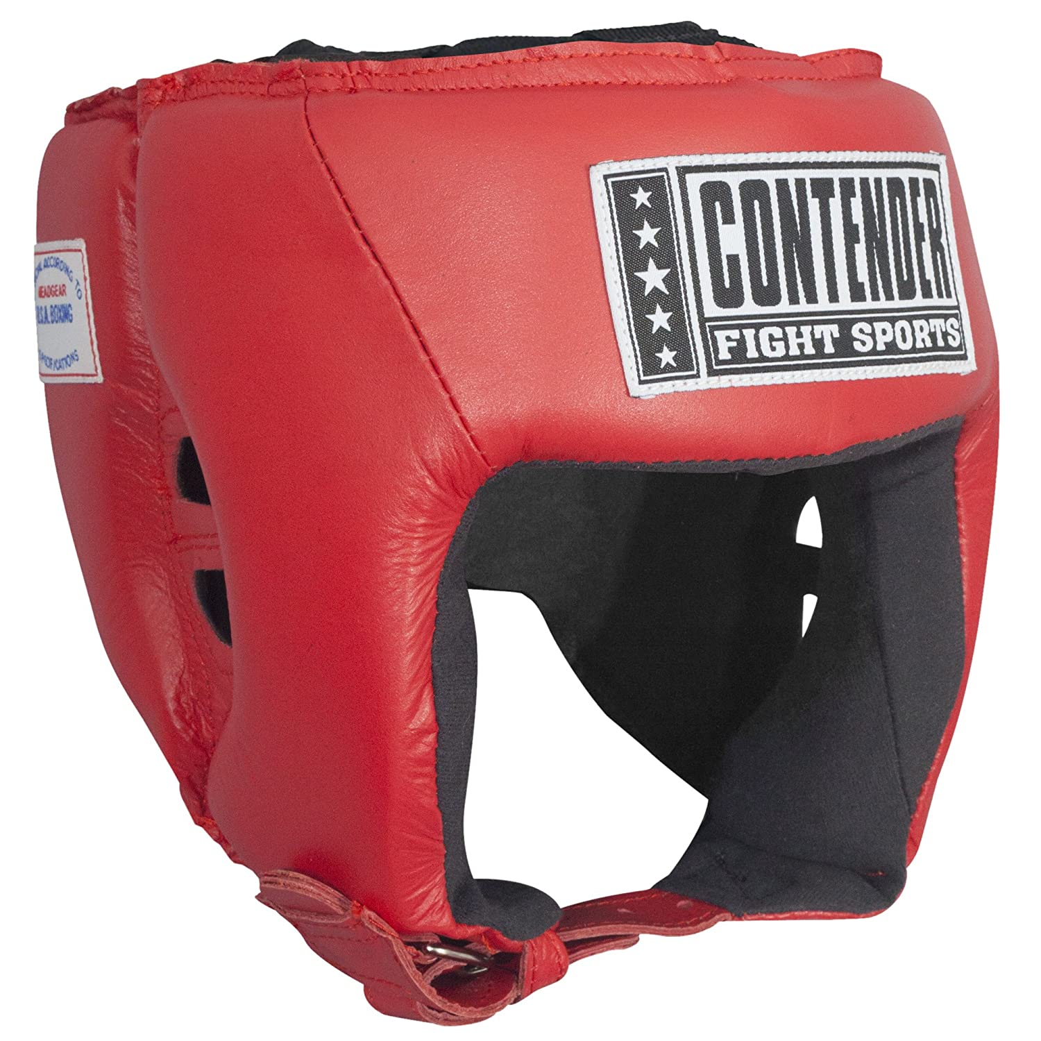 Contender Fight Contender Sports CompetitionボクシングムエタイMMAスパーリングヘッド保護Headgear レッド without Cheeks Large レッド Fight B00YU1PFFK, 田川郡:4f9ff3e8 --- capela.dominiotemporario.com