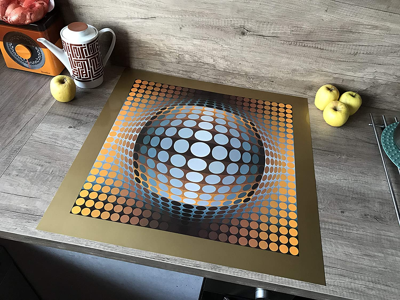 Sérigraphie VASARELY - Tirages d'époque de Victor Vasarely 1973 encadré - Art Cinétique - Objet décoratif - Vintage Design - Opticalm Art