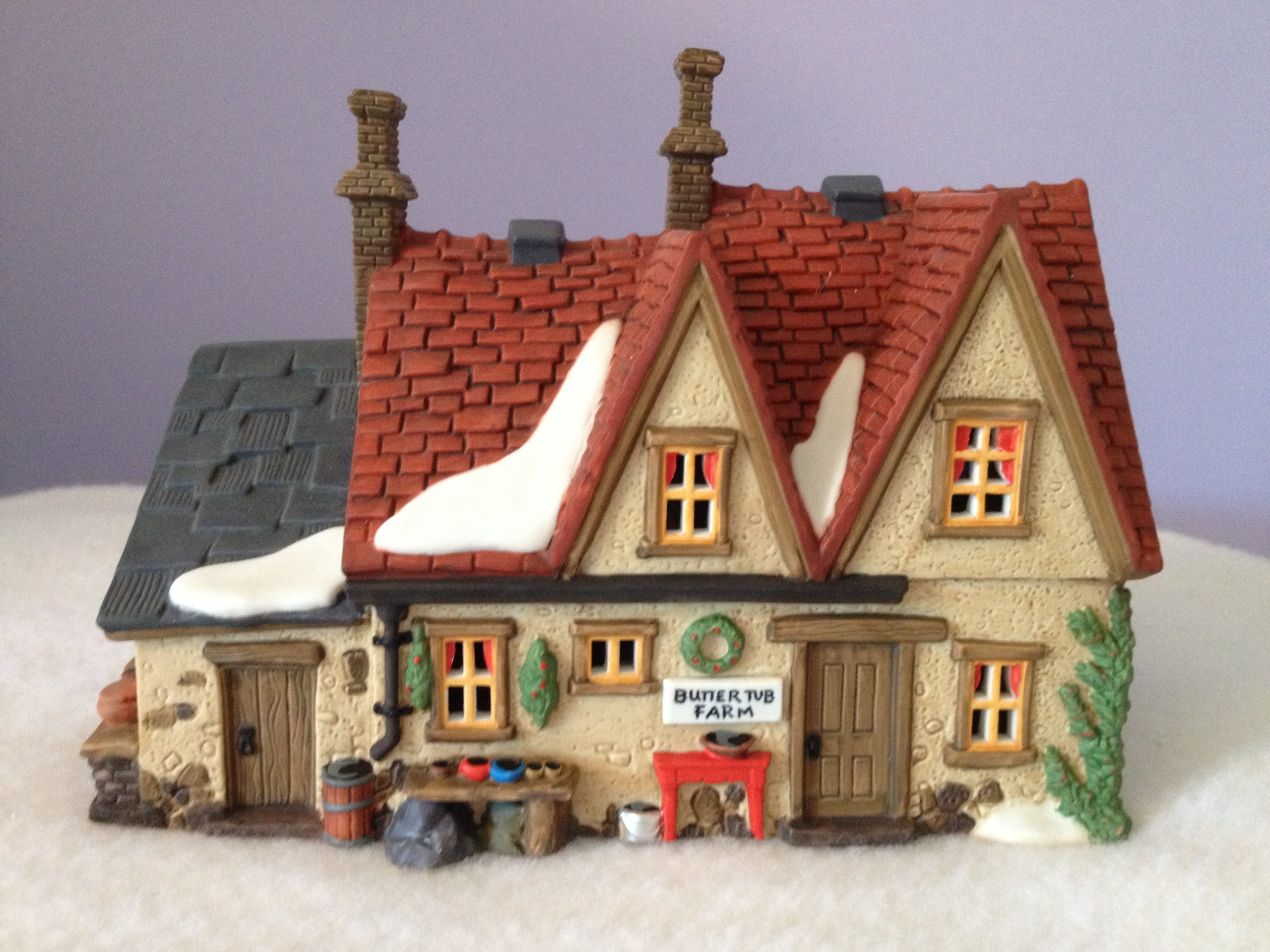 Department 56 ''Butter Tub Farmhouse'' Retired Dickens Village Series by Department 56
