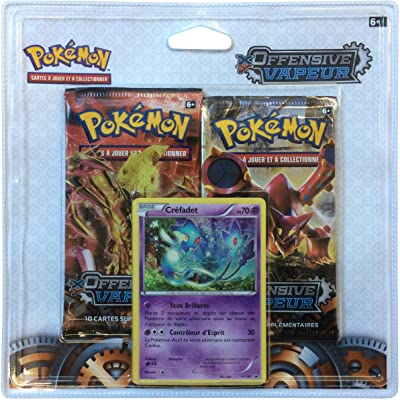 Asmodee - 2PACK01XY11 - Pack 2 boosters - Pokémon Offensive Vapeur - XY 11 - Créfadet