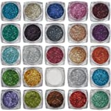 Asian Hobby Crafts Glitter Sparkle Powder (Pack of 25, 3g Each)