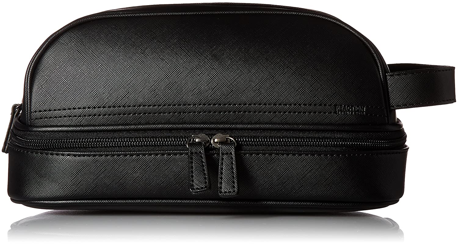 d90c370cb82e Amazon.com  Kenneth Cole REACTION Men s Drop Bottom Travel Toiletry Bag  Shaving Kit
