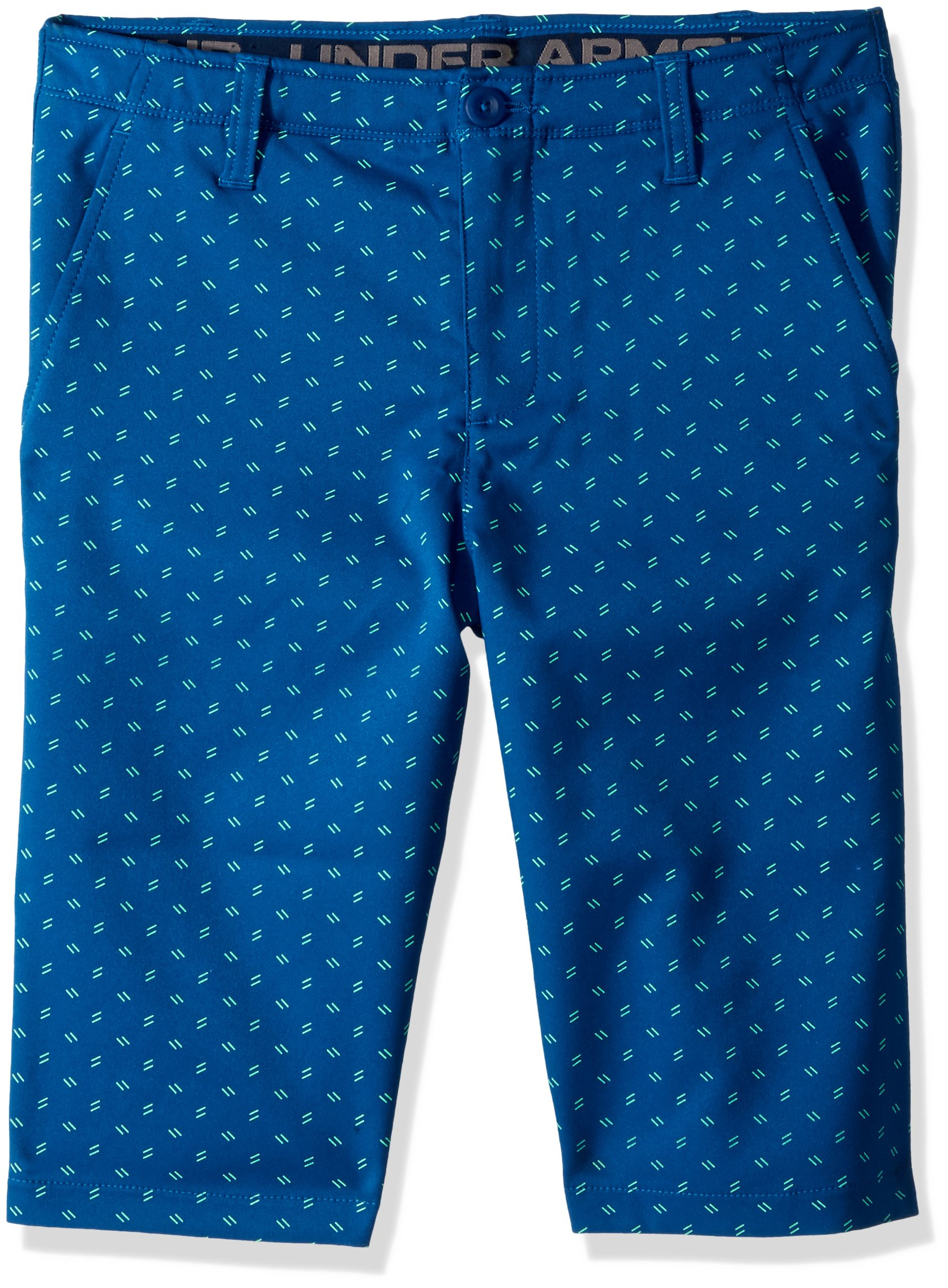 Under Armour Boys' Match Play Printed Shorts, Moroccan Blue (487)/Moroccan Blue,18