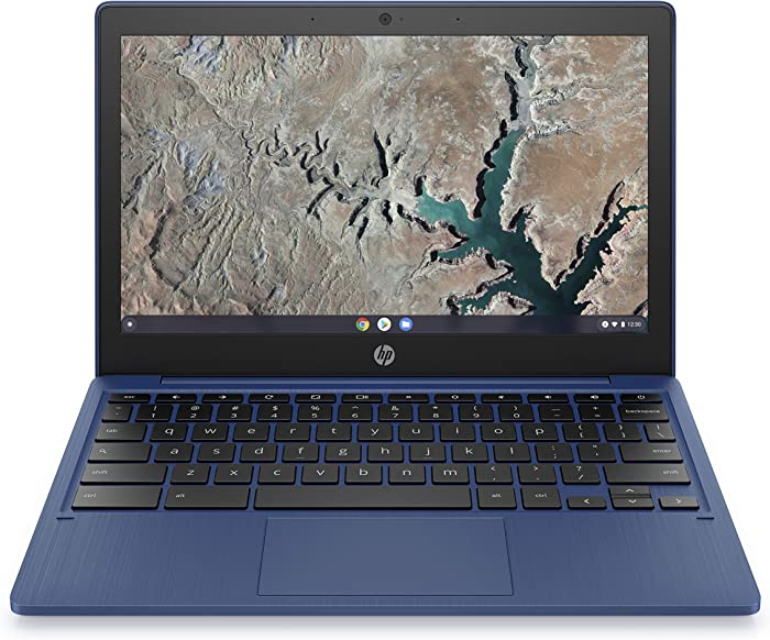 HP Chromebook 11-inch Laptop, Touchscreen, MediaTek MT8183, MediaTek Integrated Graphics, 4 GB RAM, 32 GB eMMC Storage, Chrome (11a-na0060nr, Indigo Blue)