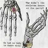 Talking Tables Skeleton Crew Skeleton Design Paper Napkins (33cm)  for a Halloween party, Multicolor (20 Pack)