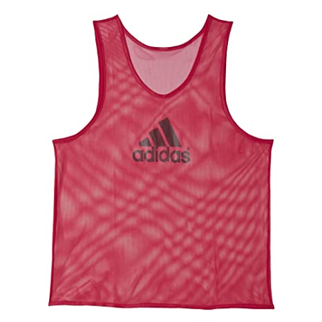 eec39594626c5a Amazon.com  Adidas Mens Training Bib 14 Soccer Tank XL Vivid Berry ...