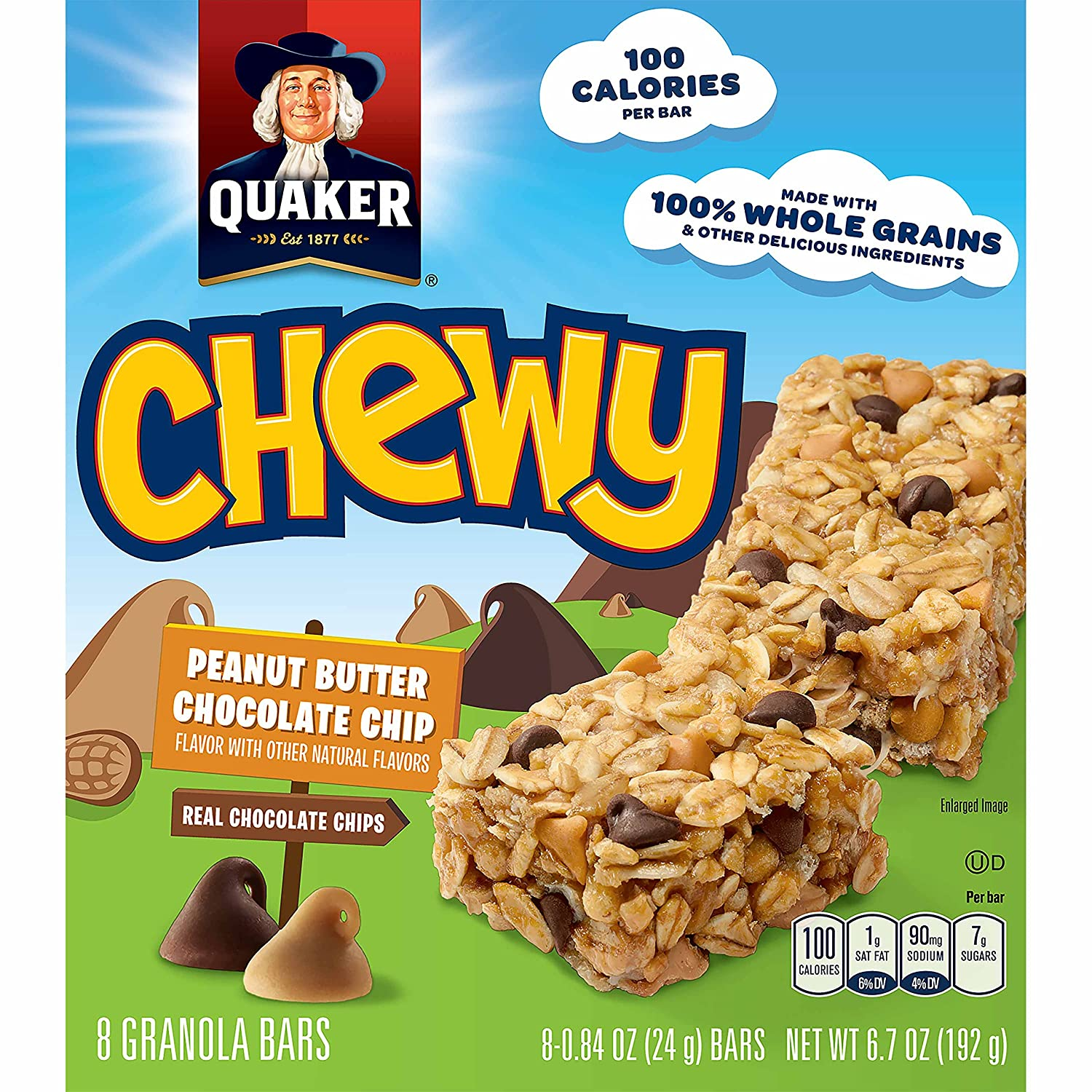 Incroyable Amazon.com: Quaker Peanut Butter Chocolate Chip Chewy Granola Bars,  8 Count, 6.7 Ounce (Pack Of 6)(Packaging May Vary): Granola And Trail Mix  Bars