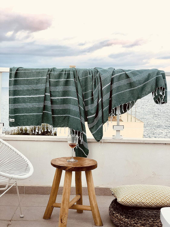 Captain/&Mermaid/® Premium XXL Strandtuch aus 100/% Baumwolle Sauna Tuch leicht Badetuch 220x160 d/ünn /& extra gro/ß Hamam Tuch Peshtemal Handtuch XXL Blue Lagoon