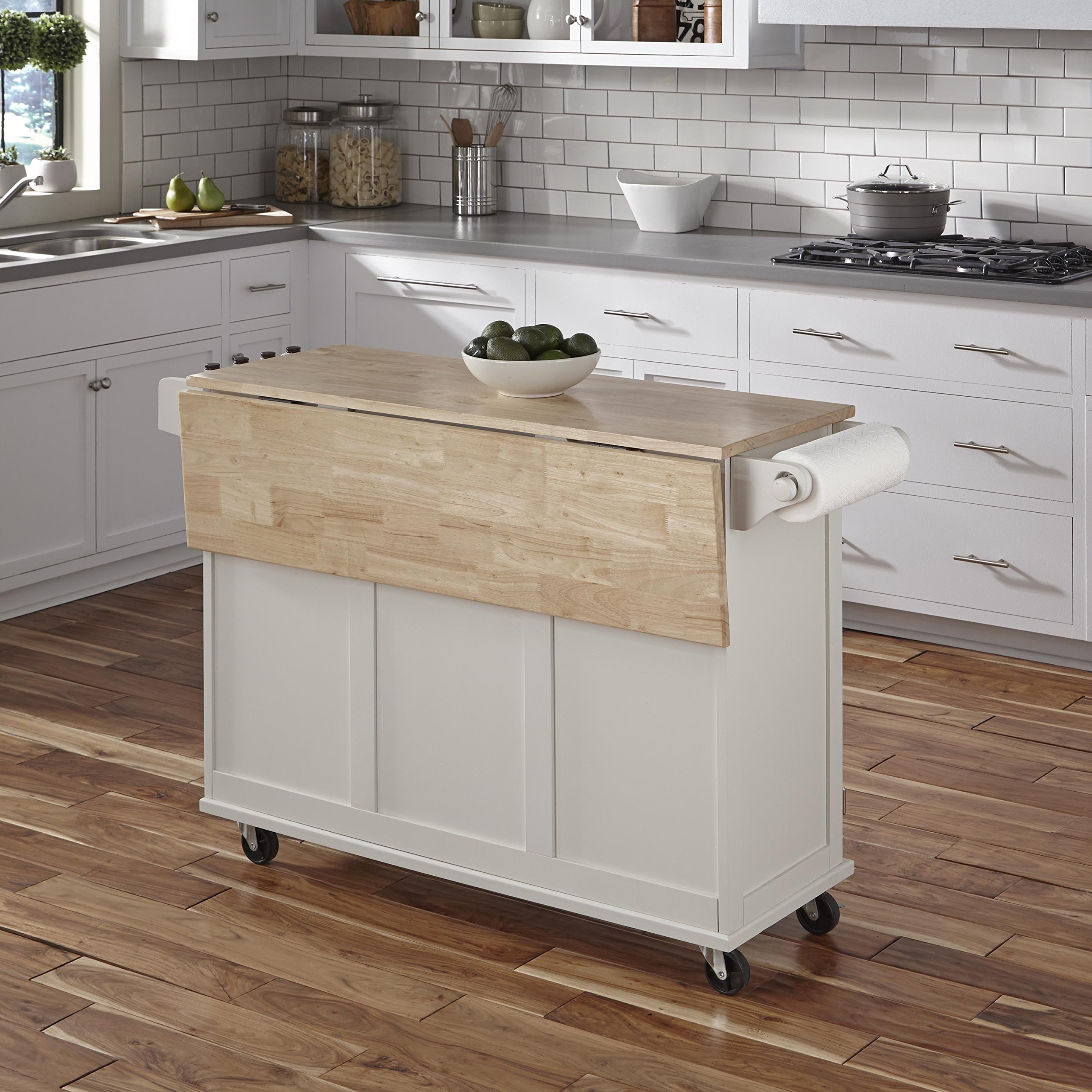 Home Styles 4511-95 Liberty Kitchen Cart with Wood Top, White by Home Styles (Image #3)