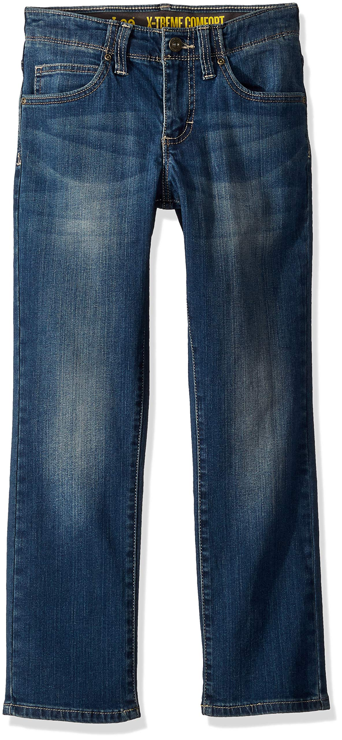 LEE Boys' Big Sport X-Treme Comfort Slim Jeans, Caspian, 18 Regular
