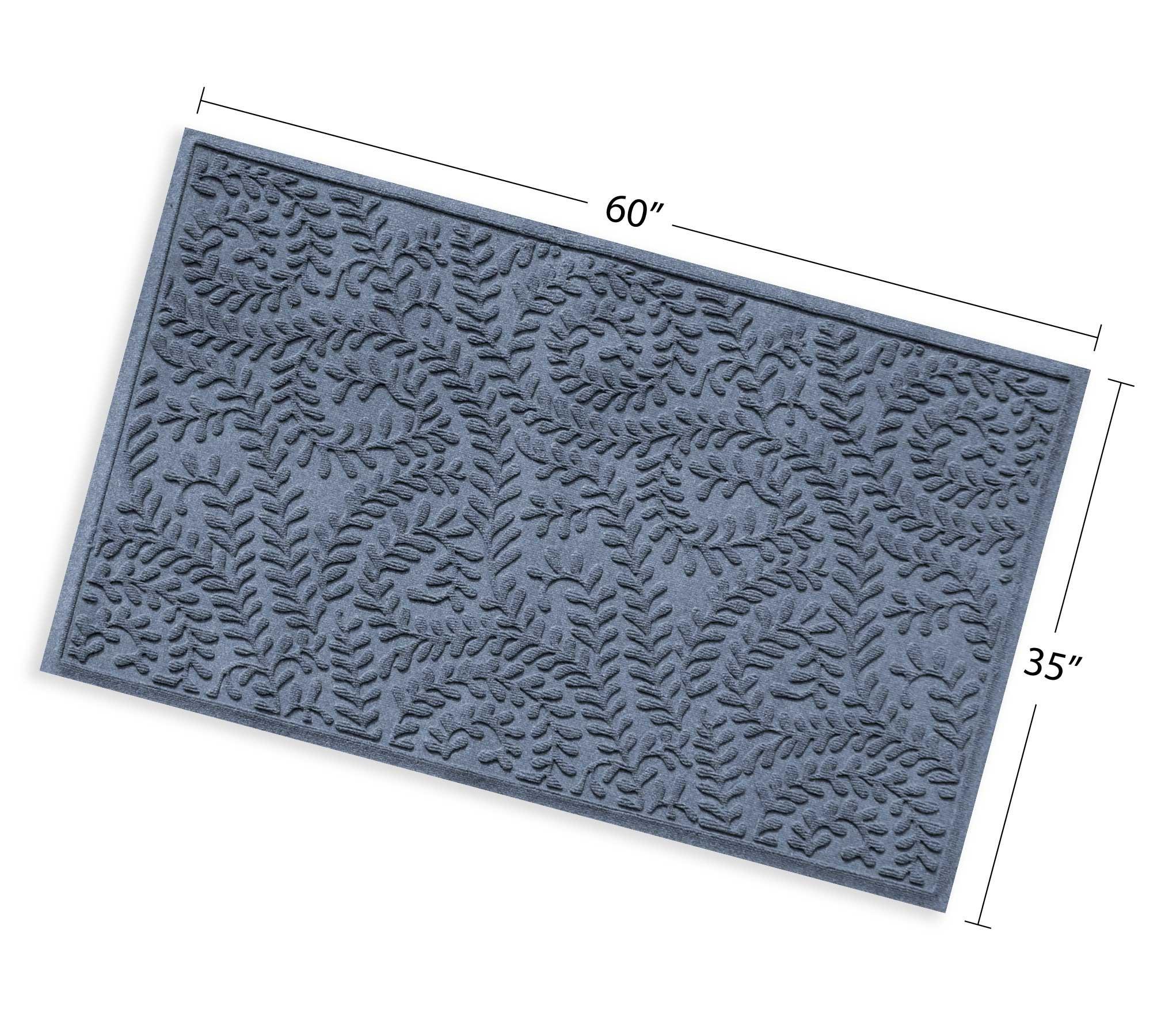 Bungalow Flooring Waterhog Indoor/Outdoor Doormat, 3' x 5', Skid Resistant, Easy to Clean, Catches Water and Debris, Boxwood Collection, Bluestone by Bungalow Flooring (Image #5)