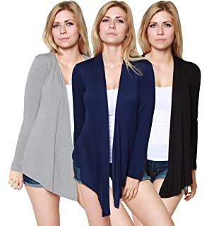 110cb80988 Free to Live 3 Pack Women s Cardigan - Light Weight Sweater with Open Front