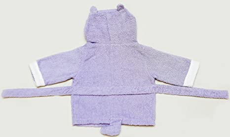 baby-steps, púrpura de hipopótamo albornoz con capucha albornoz y toalla de, 0 - 9 meses, Baby Shower Regalo. Caja de Regalo con la compra gratis.
