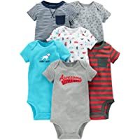 Simple Joys by Carter's Baby Boys', Paquete de 6 Body de Manga Corta