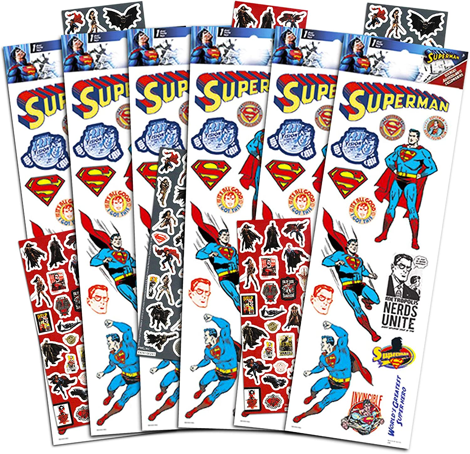 Amazon.com: Paquete de pegatinas de Superman Party Favors ...
