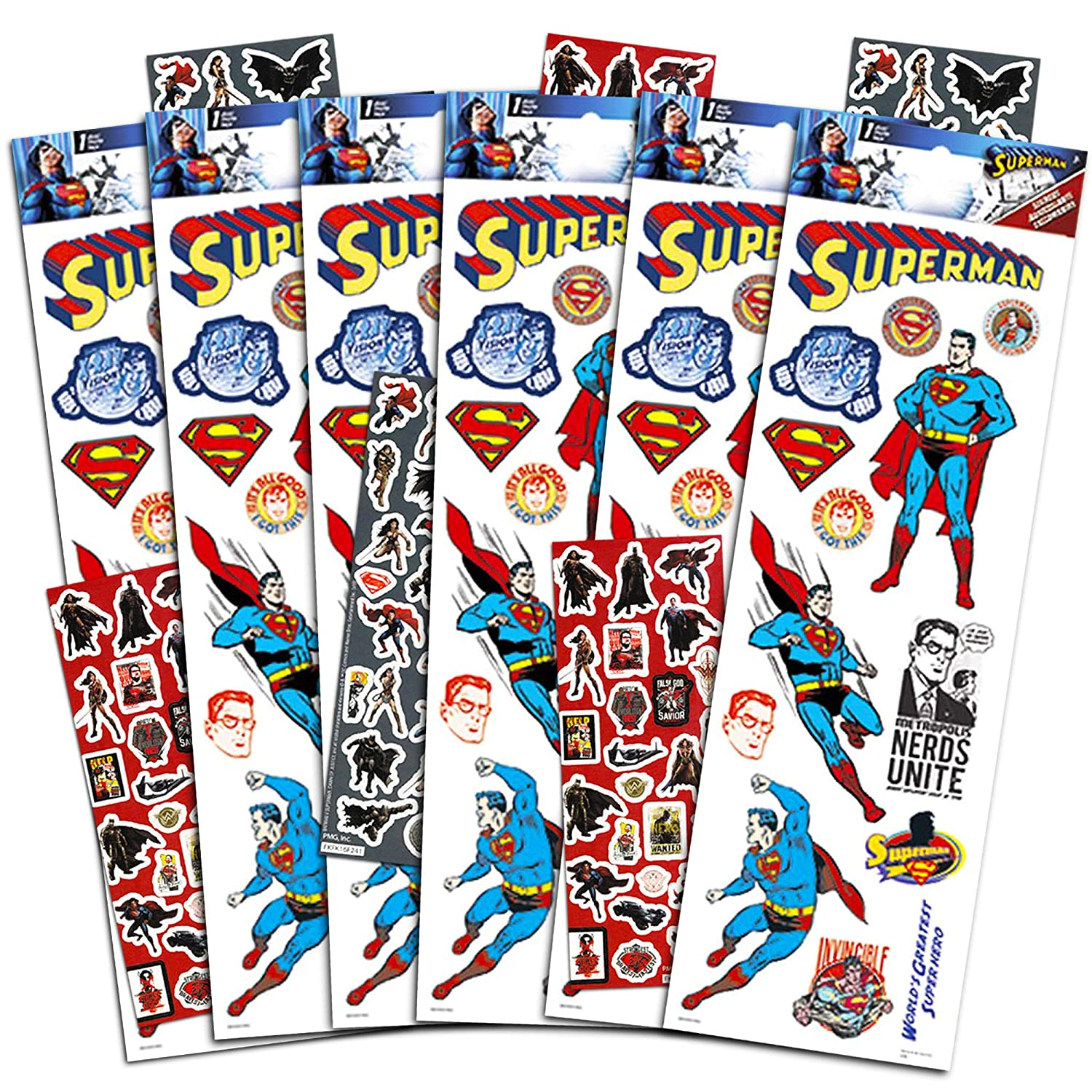 Superman Party Favors Stickers Pack ~ 18 Superman Sticker Sheets Superman Party Supplies Over 320 Superhero Stickers Total
