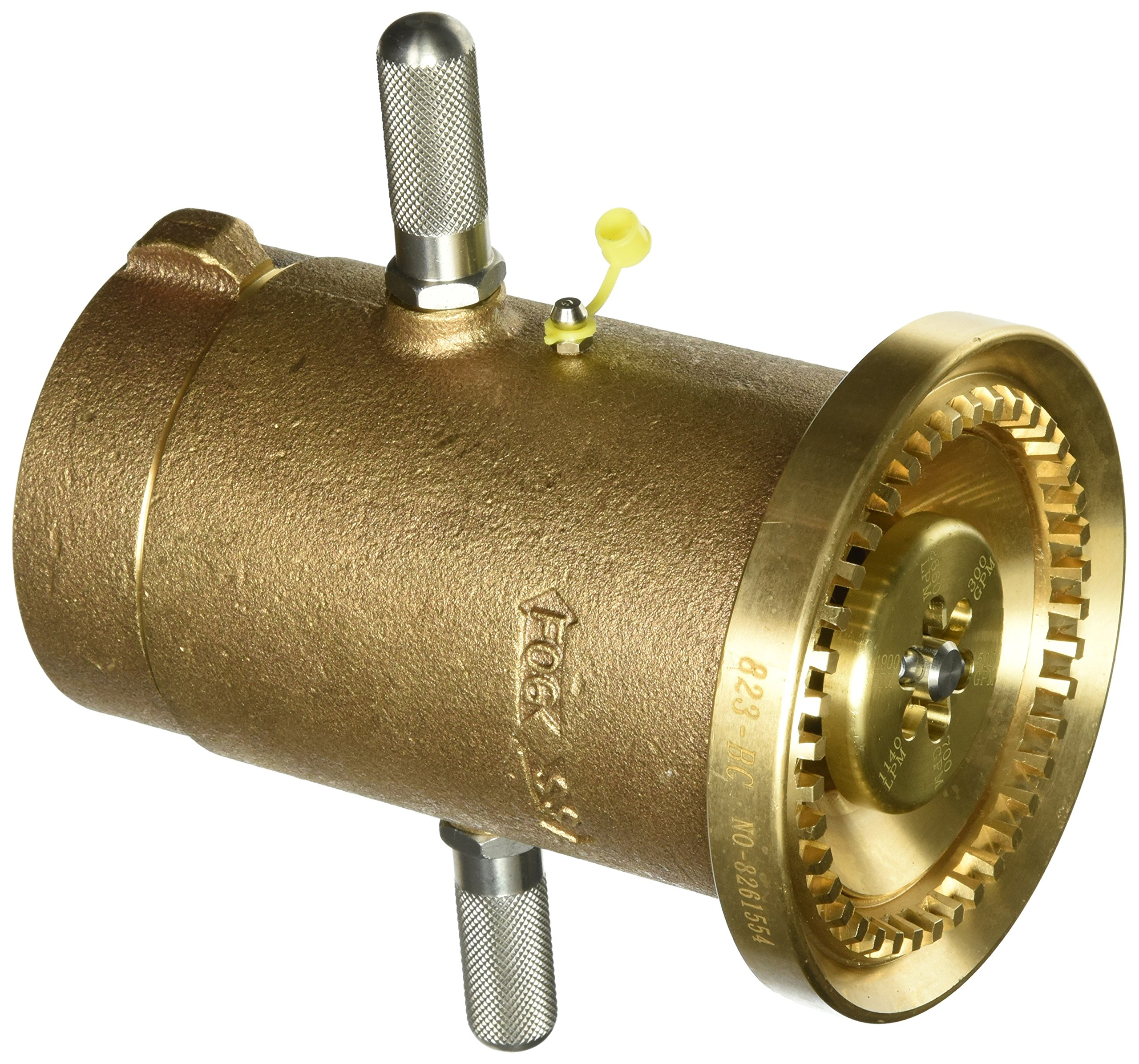 Moon 529-2522 Brass Fire Hose Nozzle, 700 gpm, 2-1/2'' NST