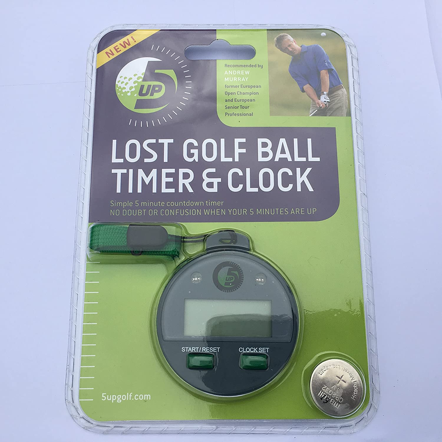 5UP - Lost Golf Ball 5 Minute Countdown Timer, Stay Within The Rules, After  4 mins 1 Beep & Amber Light, After 5 Mins 5 Bleeps & Red Light