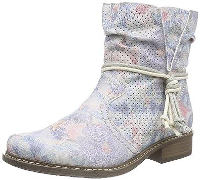 Rieker Damen Z4166 Kurzschaft Stiefel, Mehrfarbig (blau-Multi   90), 36 37814404e6