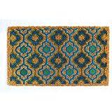 ONLY MAT Backing PVC Natural Coir Doormat (75x45x1.5 cm, Multicolor)