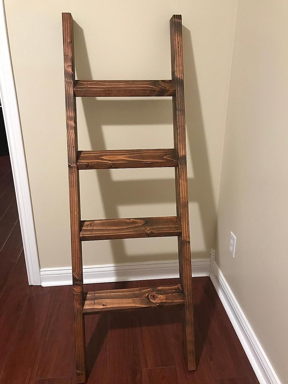 3 4 And 5 Foot Quilt Ladder Blanket Ladder Rustic Blanket Ladder Wooden Blanket Ladder Nursery Blanket Ladder Towel Ladder Handmade