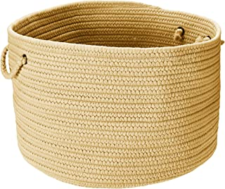 product image for Colonial Mills BR34 18 by 18 by 12-Inch Boca Raton Solid Storage Basket, Pale Banana