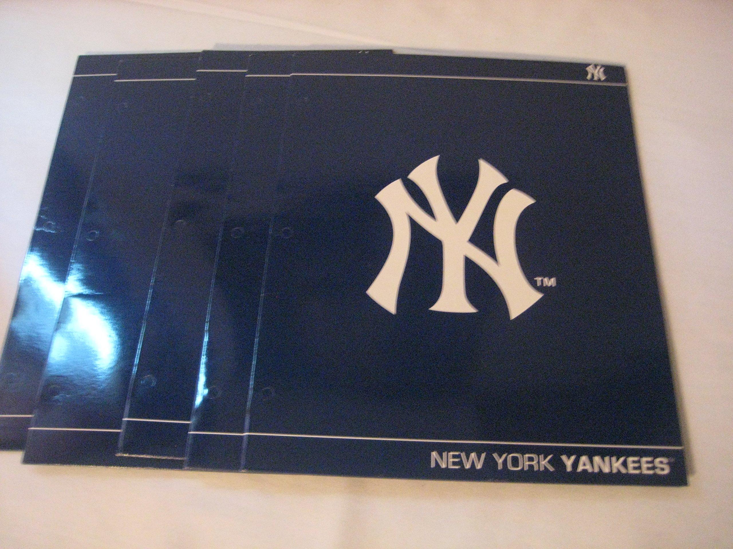 New York Yankee Folders (5 pack)
