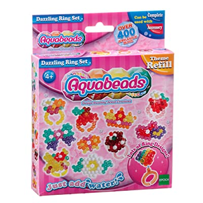 Aquabeads Theme Pack, Craft Sets, Aquabeads Dazzling Ring Set: Toys & Games