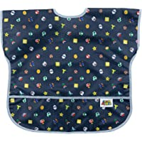 Bumkins Junior Bib / Nintendo Short Sleeve Toddler Bib / Smock 1-3 Years, Waterproof, Washable, Stain and Odor Resistant…