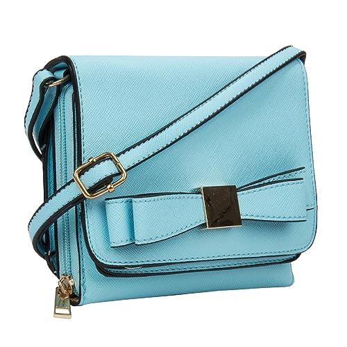 ce5afe9908ec VanGoddy Slim Chic Mini Carson Aqua Cross-Body Wallet Bag: Handbags ...