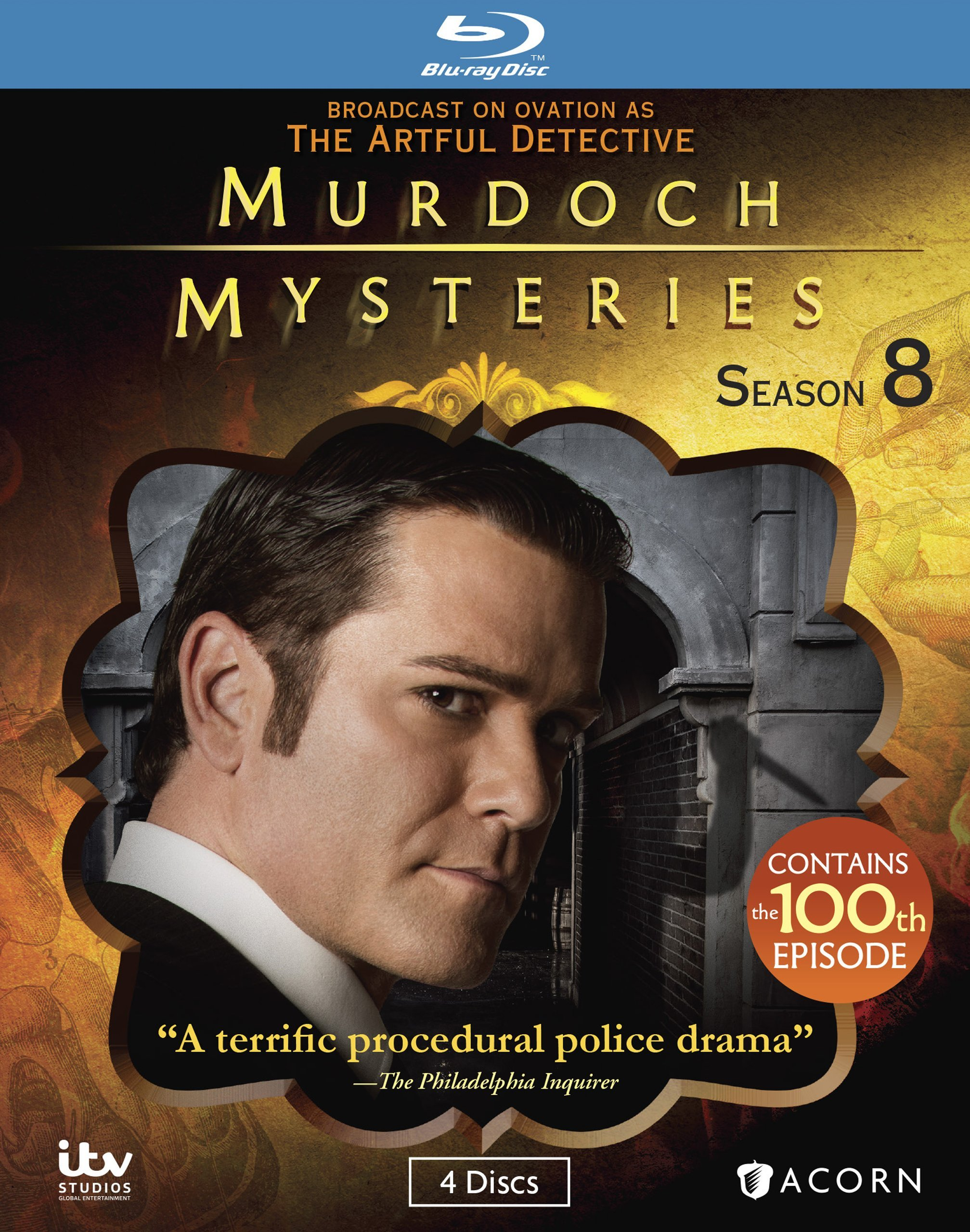 Blu-ray : Murdoch Mysteries: Season 08 (Blu-ray)