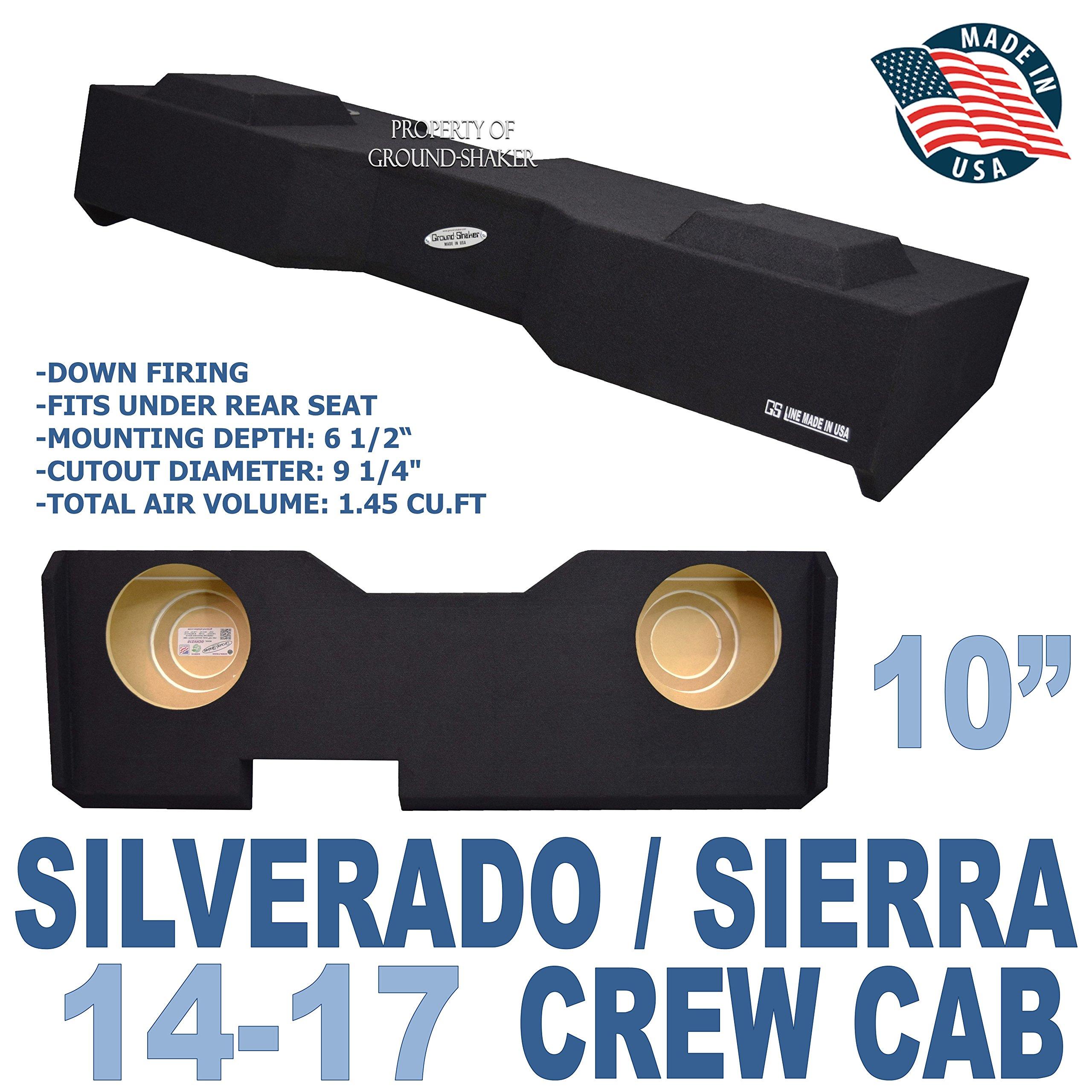 14-17 Chevy Silverado & GMC Sierra Crew Cab Subwoofer Enclosure