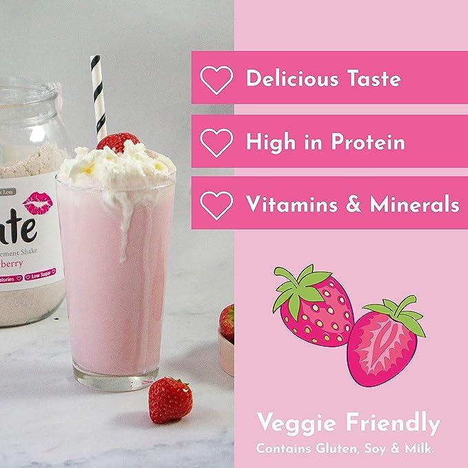 Cute Nutrition Batido de Reemplazo de Comida Sabor Fresa para el ...