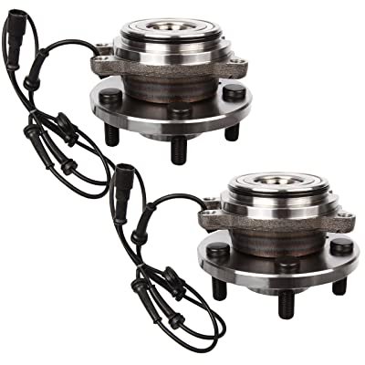 AUTOMUTO TAY100060 Wheel Hub Bearing Front 5 Lugs with ABS Sensor Fit Land Rover Discovery/Land Rover Discovery Series II 1999-2004(Pack of 2): Automotive