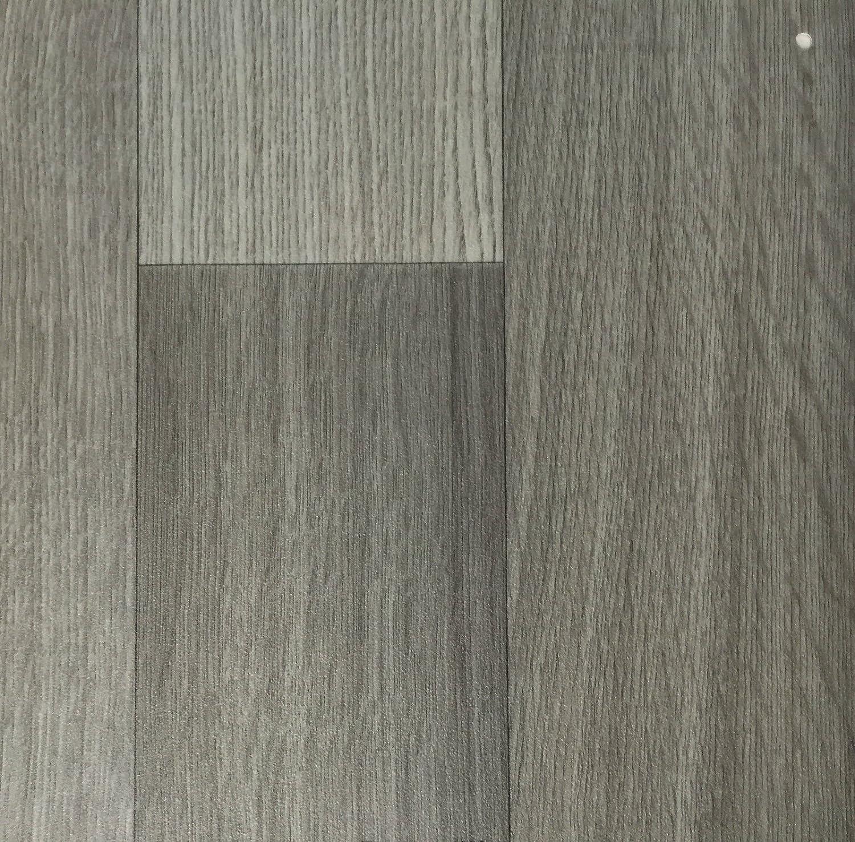 PVC Vinyl-Bodenbelag in der Optik grau anthrazit Holz Planke CV-Boden wird in ben/ötigter Gr/ö/ße als Meterware geliefert PVC-Belag verf/ügbar in der Breite 4 m /& in der L/änge 4,5 m