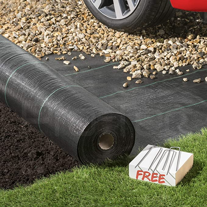 Elixir 2m x 25m 100g Weed Control Free Pegs Ground Cover Membrane Landscape Fabric