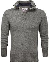 Charles Wilson Heritage Range Men's Zip Neck Premium Wool Blend Jumper