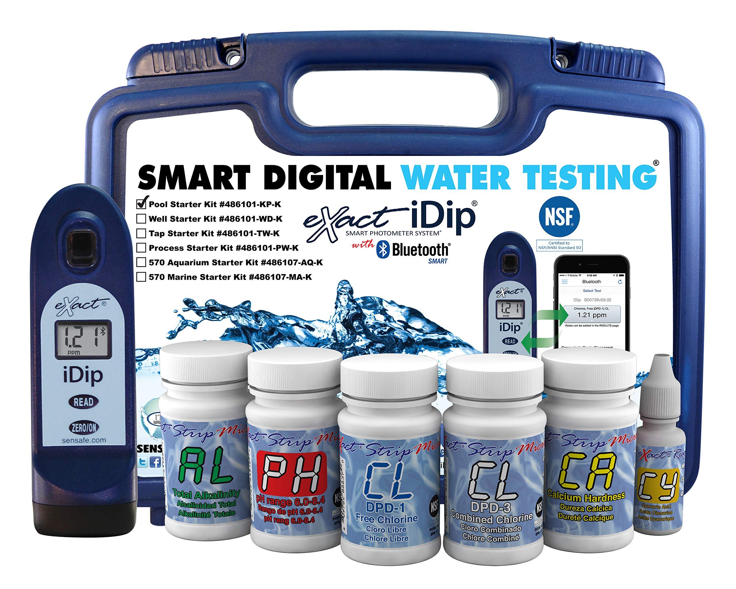 eXact iDip Photometer 486101-KP-K Pool Starter Kit with Meter by Exact