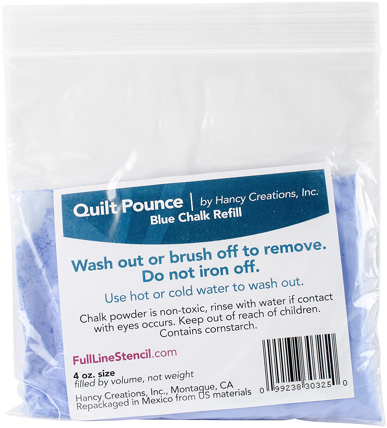 Hancy Quilt Pounce Chalk Refill-4 Ounces Blue 2/Pkg Q7B 333302643