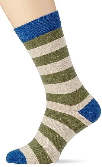 Besocks 00442, Calcetines para Hombre, Multicolor (Verde Militar/Beige), 40
