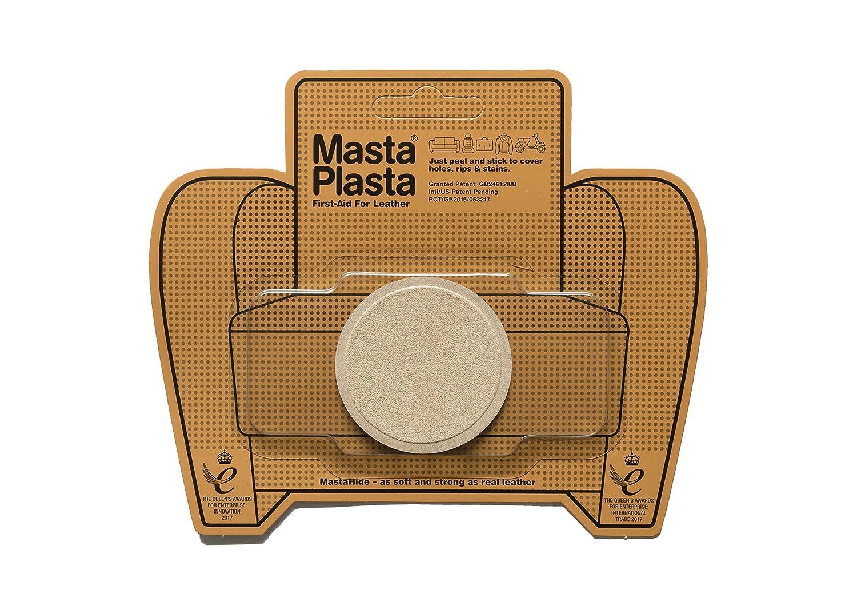 MastaPlasta 粘着パッチ レザーとビニールの修復用 小さなサークル スエード 直径2インチ 複数の色をご用意 ブラウン 5060226483983  ベージュ B07DCZB4FR
