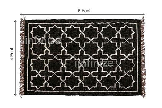 Indio tejida a mano lana yute Kelim alfombra manta) 4 x 6 de ...
