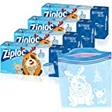 Ziploc Freezer Bags with New Grip 'n Seal Technology, for Food, Sandwich, Organization and More, Gallon, 30 Count, Pack of 4