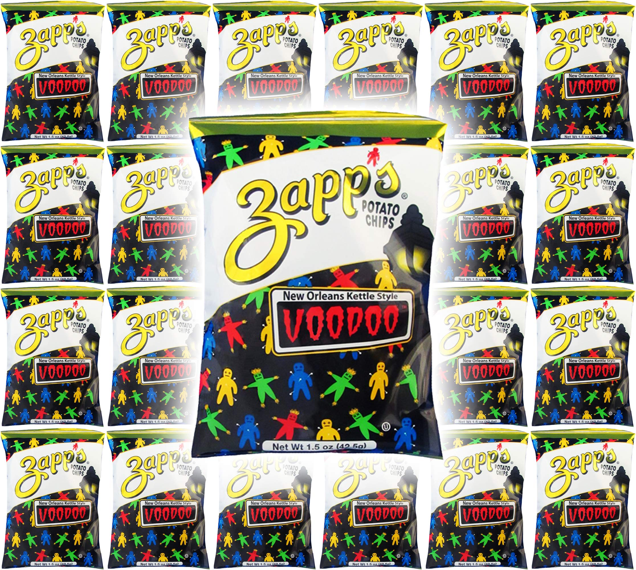Zapp's Potato Chips, VooDoo New Orleans Kettle Style, 1.5oz (Pack of 24, Total of 36 Oz) by VooDoo Chips