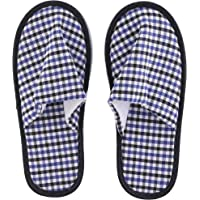 Royalford Bed Room Slippers - Indoor Slippers, Cotton Washable Non-Slip Home Shoes, Spa Slippers, Ideal in Winter, Summer | Anti-slip Sole with cool Multi Colour cotton Fabric
