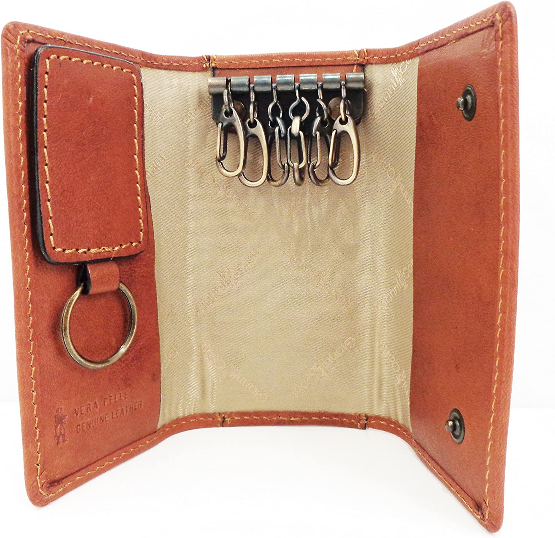 Style: 919707 Tan Italian leather BNWT Gianni Conti Leather Key Case