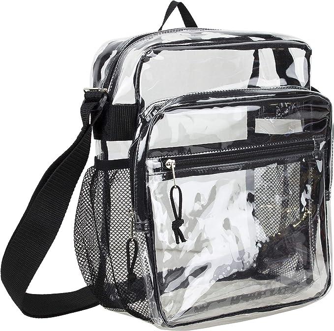 Amazon.com: Eastsport - Bolso bandolera transparente con ...