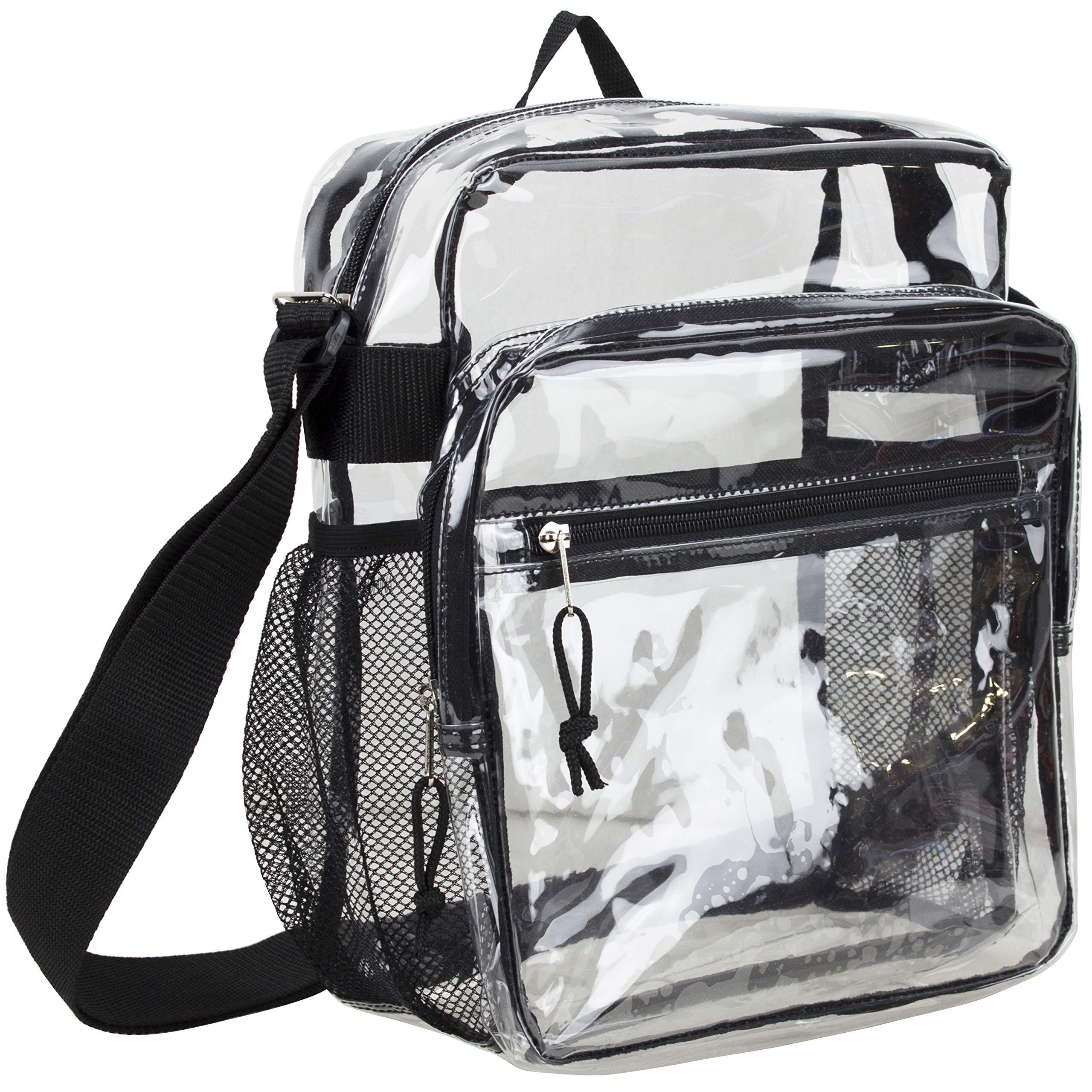 200aaf819e85 Eastsport Clear Stadium Messenger Bag with Adjustable Crossbody ...